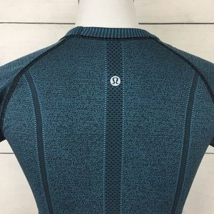lululemon athletica Tops - Lululemon Swiftly Tech Tee in Black/Desert Teal